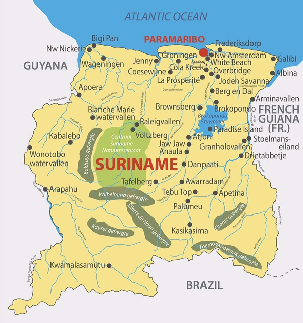 SURINAME Does Travel Cadushi Tours Vacation In Suriname - Where is suriname on the map