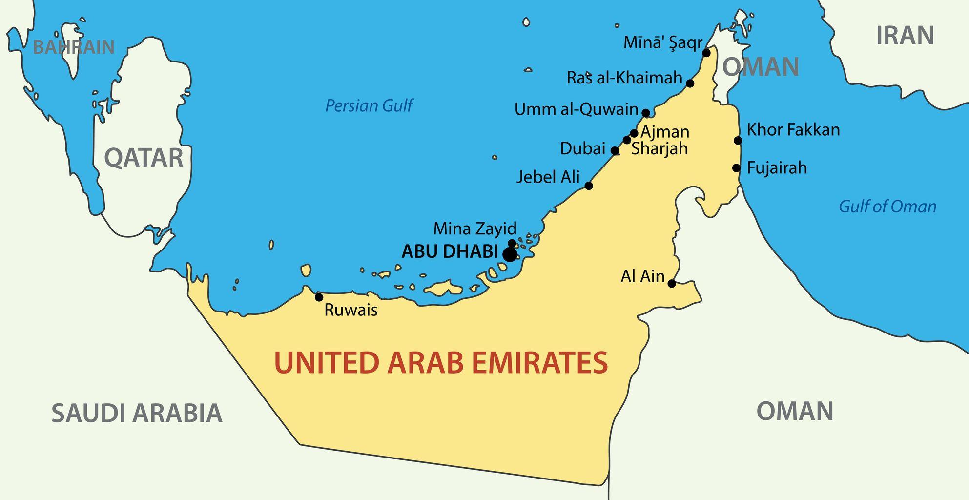 15935601 - united arab emirates - vector map